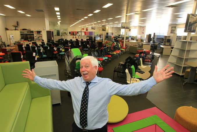 Managing Director of Bizfurn, Education and Commercial Furniture Suppliers, Denis Moore in his Maroochydore Business. Photo: Cade Mooney / Sunshine Coast Daily