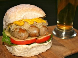 Genuine German Bratwurst Burger