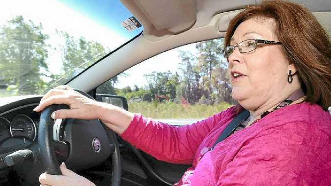 Lynda Schekoske from RACQ spoke about safety to a forum of elderly drivers.