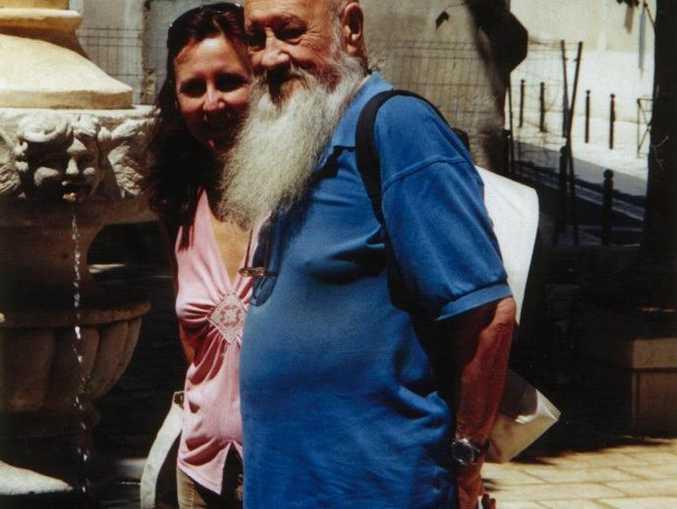 Florence Teillet with her dad in Orange, France.