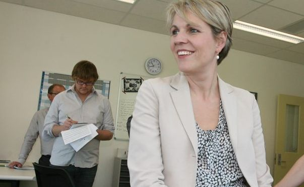 Tanya Plibersek during a previous visit to Rockhampton.