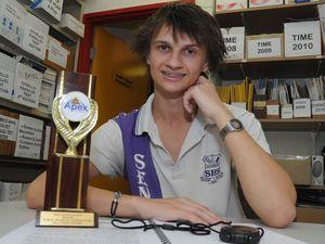 Ad lib humour wins 17-year-old student an award