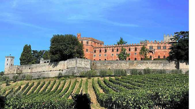 Majestic setting, the Ricasoli Castle and vineyards.