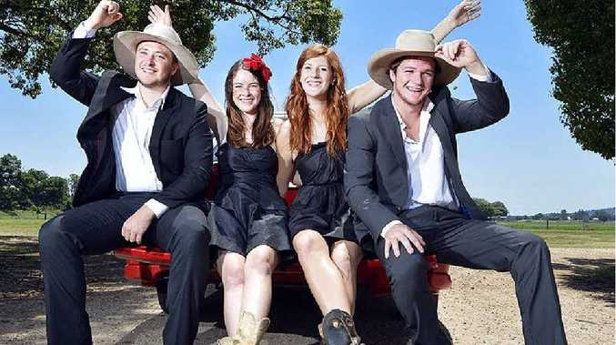 GOOD TIMES: Michael Shearer, Hannah Brodie, Stephanie Dunlop and Jack Pearlman.