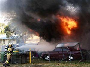 Blaze engulfs Ipswich home