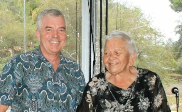 ABORIGINAL HERSTORY: Mick O'Regan and his interview subject Aunty Bertha Kapeen at the Bangalow Museum.