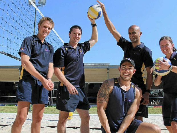 Michael Watt, Brendan Iles. Arthur Wentworth-Fisher, Julie Fenton and Nick Dunne are looking forward to WIRAC's beach volleyball tournament.