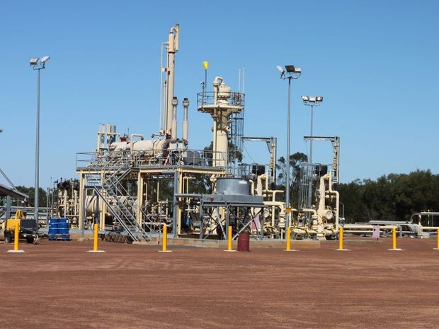 Coal seam gas processing plant