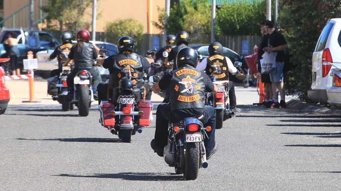 Bandidos riding on the Sunshine Coast.