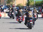 Bandidos riding on the Sunshine Coast.