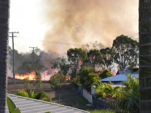 Fire crews praised for keeping blaze away from houses