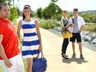 SEASON'S COLOURS: Tyson Muscat, Amanda Doull, Janine Jacobsen and Aidan Begley model some of the fashions for spring/summer that are available from Caneland Central.