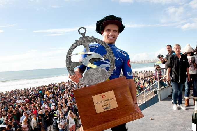 Coolum surfer Julian Wilson wins the Rip Curl Pro Portugal.