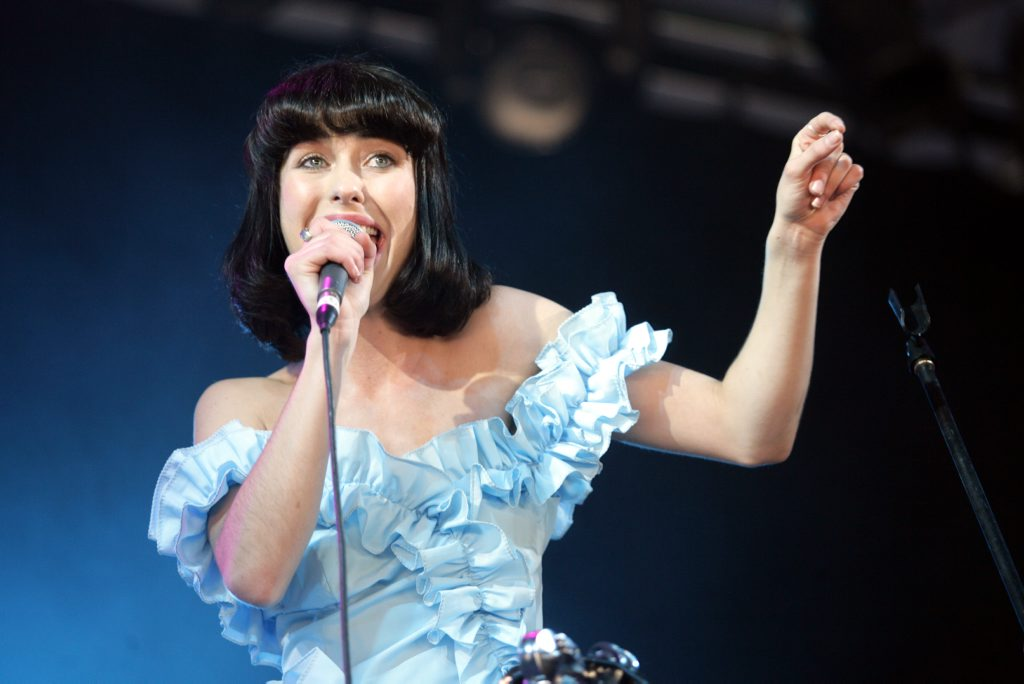 Kimbra performs in the GW McLennan Tent at Splendour in the Grass.