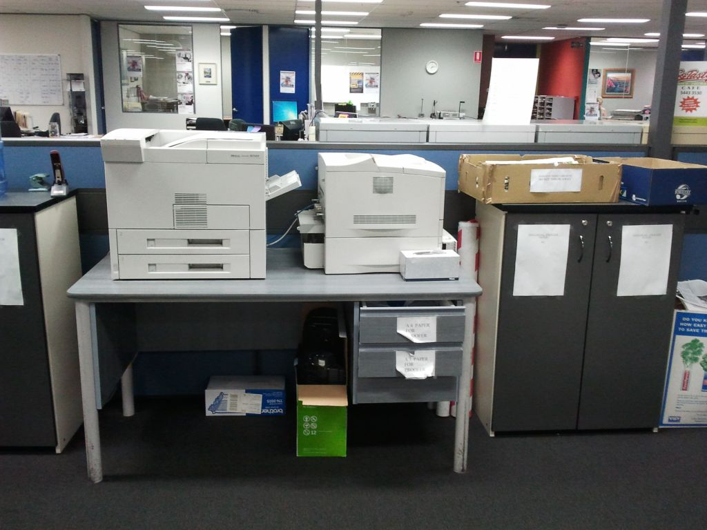 Put things away as you go and sort out your office systems so every item is in the most convenient location for the amount of use it typically has
