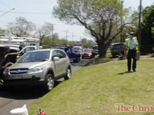Two car crash Ruthven Street, Toowoomba