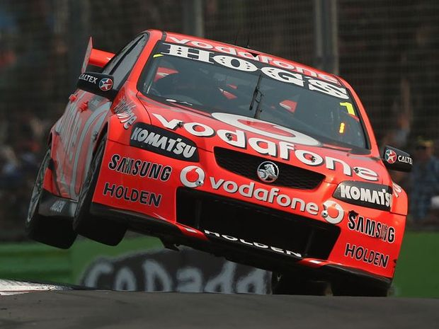 Jamie Whincup drives the #1 Team Vodafone Holden during race 23 of the Gold Coast 600, which is round 12 of the V8 Supercars Championship Series at the Gold Coast