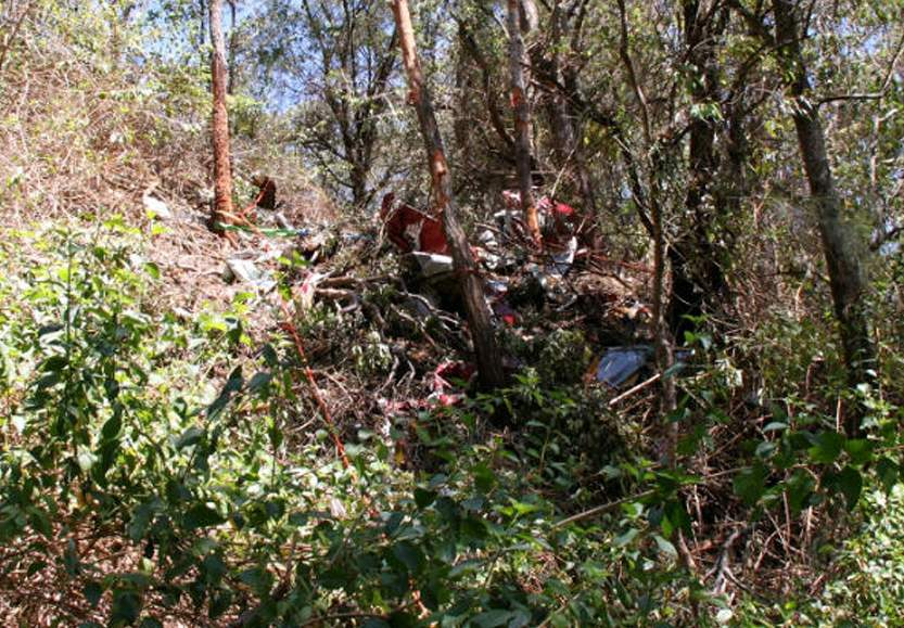 The wreckage of the bi-plane which crashed near Gympie on October 1. Source: ATSB
