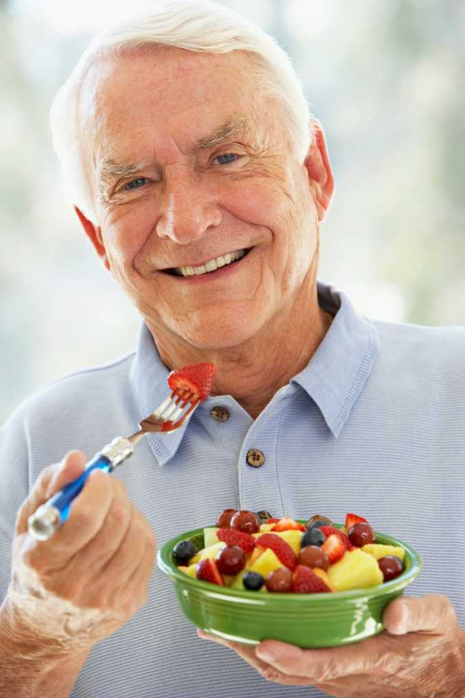 Fruit salad is the perfect super snack to keep you healthy in old age.