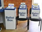 Voting at St Pauls Hall at the Lismore Presbyterian Church on Saturday.