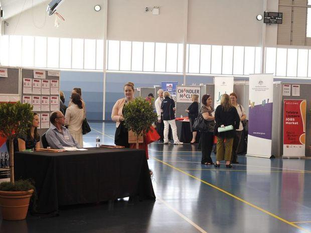 Telstra Lismore Jobs Market at the Goonellabah Sports and Aquatic Centre.