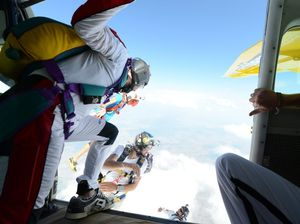 Skydivers over sixty