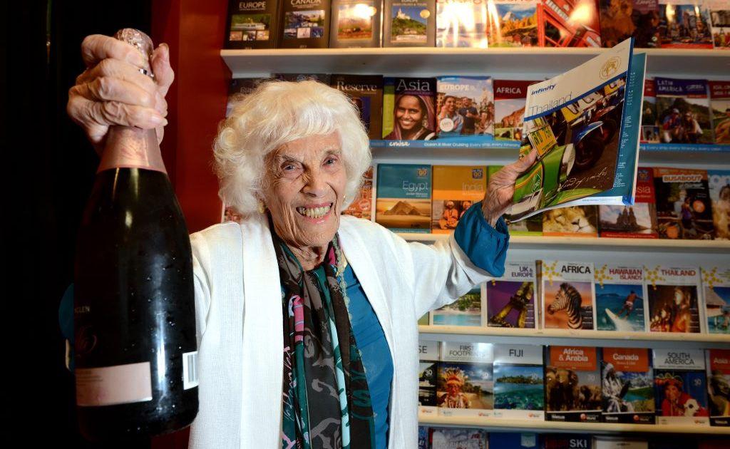 99 yo mother Dodo Doris Hall is going to Bangkok for a shopping holiday. Photo: John Gass / Daily News
