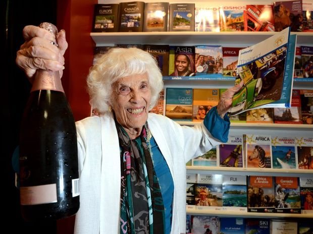 99 yo mother Dodo Doris Hall is going to Bangkok for a shopping holiday. Photo: John Gass / Daily News
