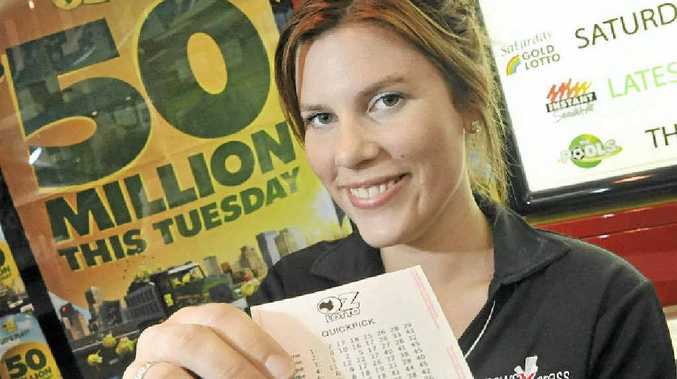 Jess Harrison from NewsXpress at Noosa Civic has been in high demand leading up to tonight's $50 million Oz Lotto draw.