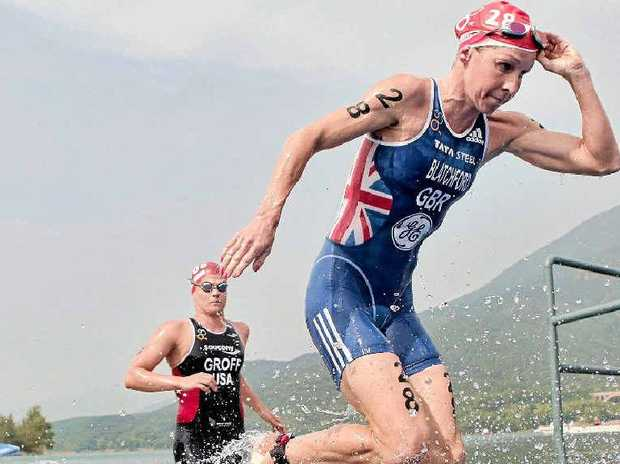Liz Blatchford of Great Britain during swim leg action. Blatchford is expected to feature in next month's Noosa Triathlon.