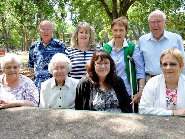 Members of the Toowoomba Post-Polio Support Group are desperate for funding, including (back, from left) Les Harms, Deborah Khan, Margaret Brosnan, Jim Galletly, (front) Genevieve Payne, Lenor Galletly, Judy Rosenrauch and Doreen Whittaker.