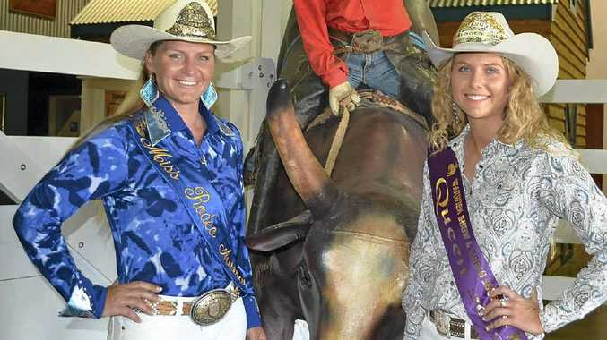 GIRL POWER: Miss Rodeo Australia Bobbie-Jo Geisler caught up with Miss 2012 Warwick Rodeo Ella Waugh.