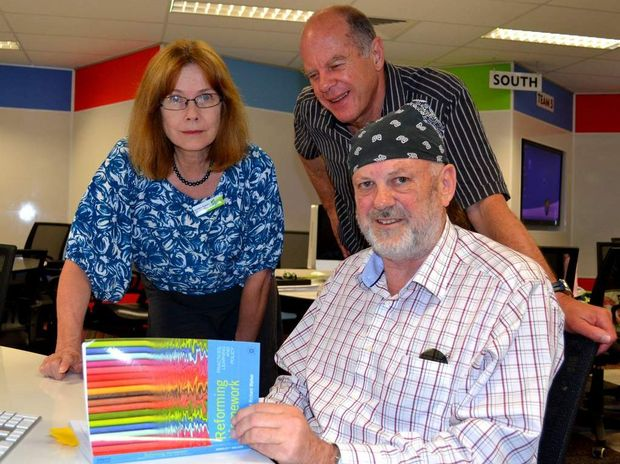 CQUniversity Deputy Vice Chancellor Prof Hilary Winchester launches Reforming Homework with co-authors Prof Richard Walker and Prof Mike Horsley in Noosa today.