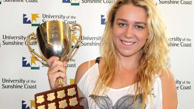 Tessa Wallace was today crowned the University of the Sunshine Coast's sportsperson of the year.