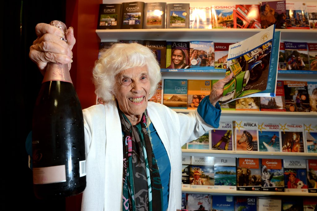 Image for sale: 99 yo mother Dodo Doris Hall is going to Bangkok for a shopping holiday. Photo: John Gass / Daily News