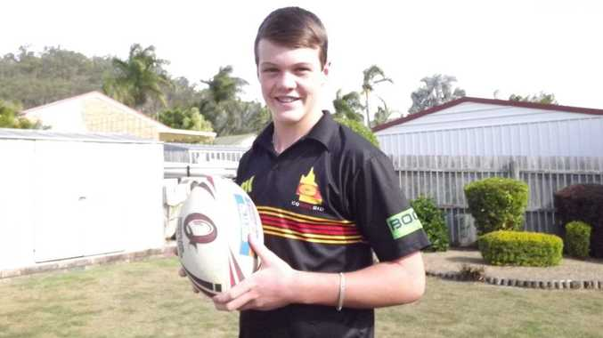 Gladstone's Jack Glossop, 14, is in the under-14 CQ NRL Bid Junior Development Squad.