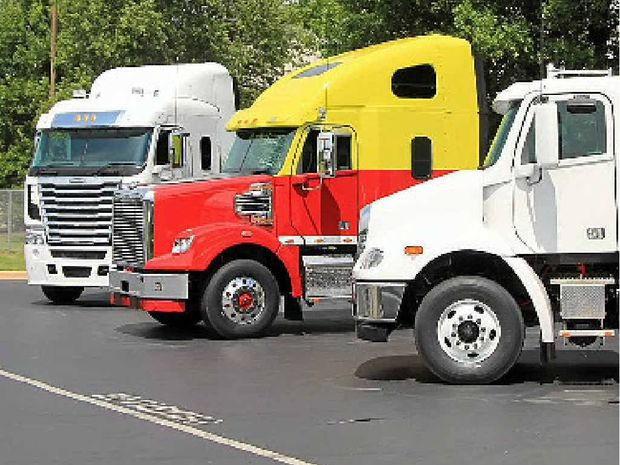CONFIDENT MARKET: Aussie Freightliners on display in Cleveland, North Carolina, USA. Photo: David Meredith