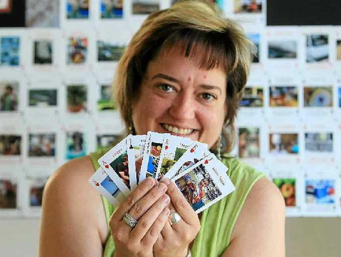 Celeste Brignac of All Oz Cards at Maroochydore.