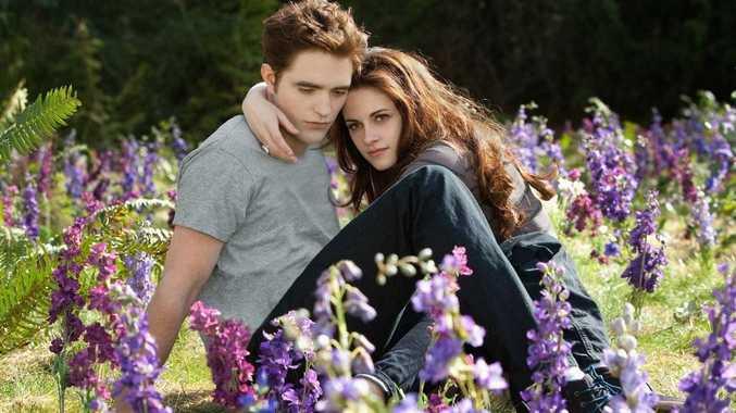 Robert Pattinson and Kristen Stewart in a scene from the movie The Twilight Saga: Breaking Dawn - Part 2.