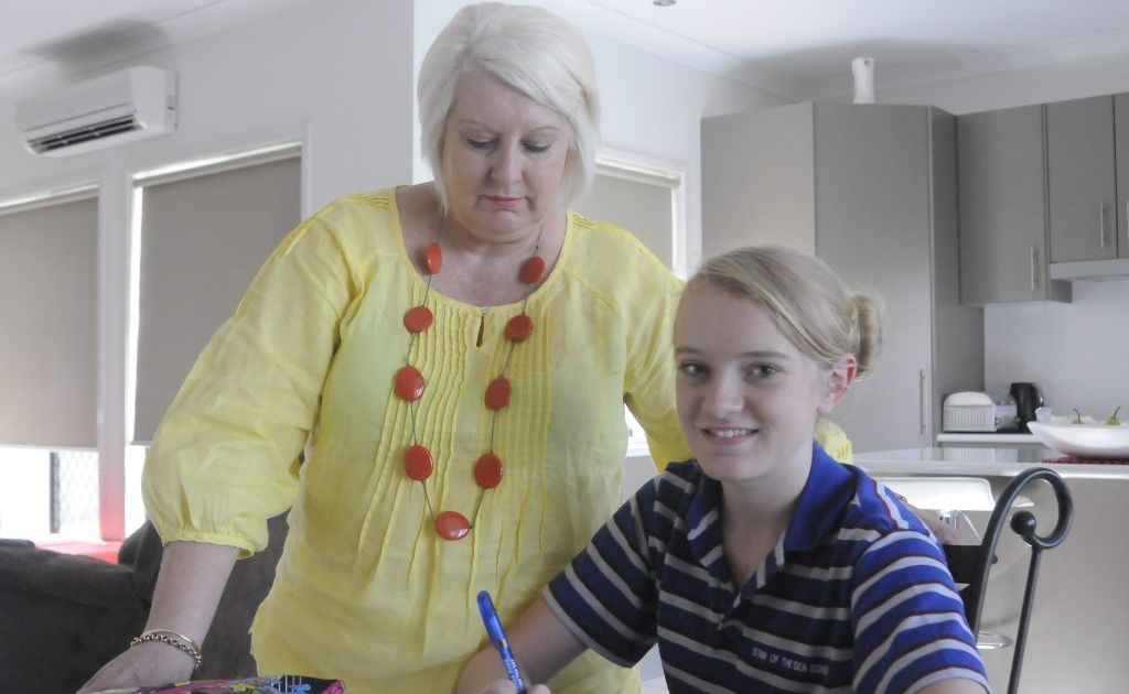 Gladstone mother Amanda Jessop and daughter Chloe Jessop, 12, do not think homework is an essential part of schooling.