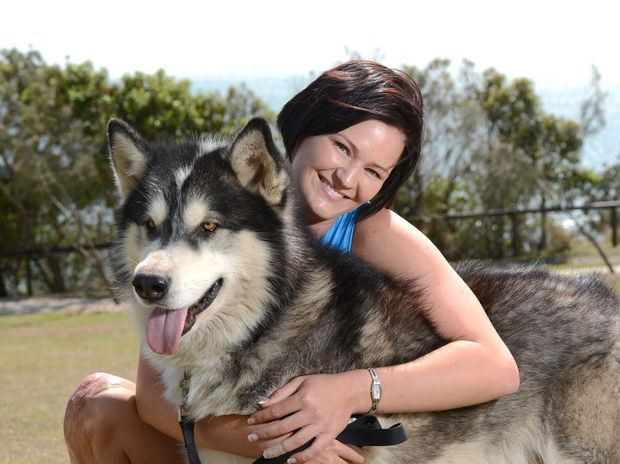 Melissa Bruce with her dog, Storm.