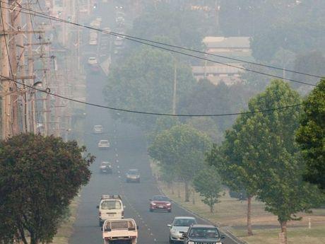 Smoke haze in Toowoomba last night.