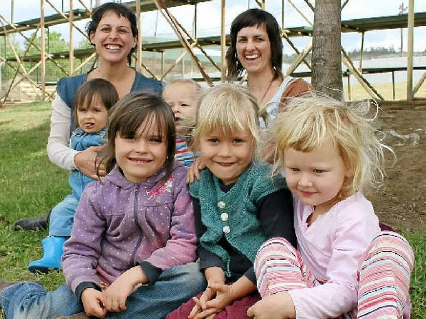 SCHOOL'S IN: Tara, Cedar, Tully, Ali, Olive, April and Eden all enjoy the benefits of home schooling in the Northern Rivers.