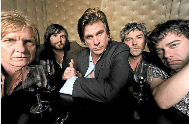 THE DARK HORSES: (from left) Charlie Owen, Gus Agars, Tex Perkins, Stephen Hadley and Joel Silbersher. Photo by Martin Philbey