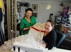 Tammy Walz-Ledingham and Kelly-Anne Russell look back on the many hundreds of hours taken to create Tammy's wedding dress.