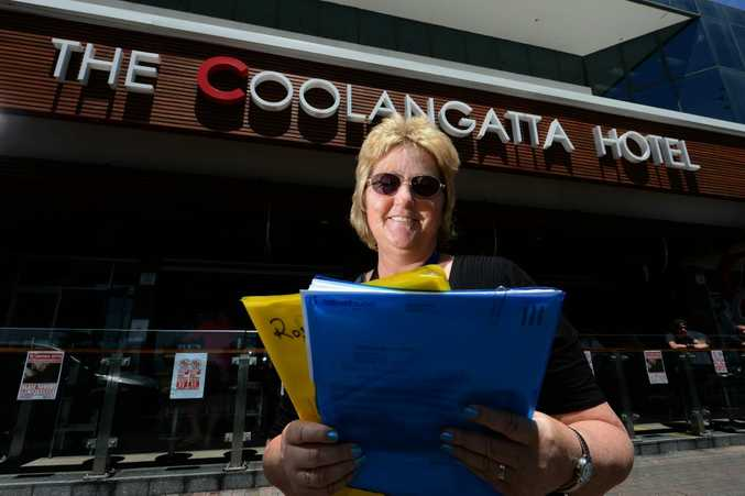 Janette Pankhurst at the Coolangatta hotel. Disabled lady working. Photo: John Gass / Daily News
