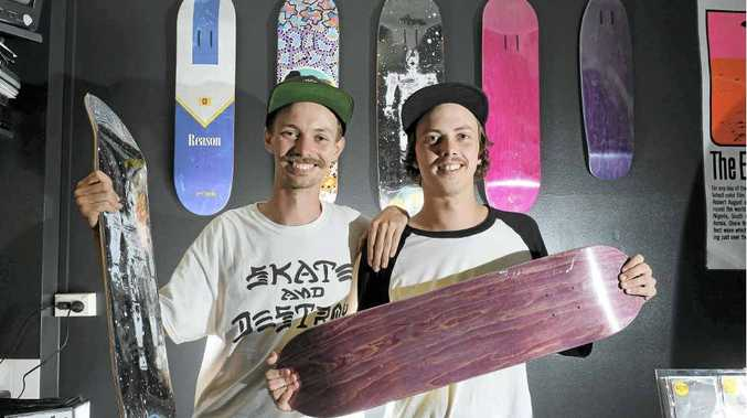 L-R Isaac and Gabe Roxburgh pictured in their newly opened alternative skate Boutique called