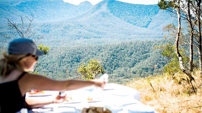 A mountaintop picnic was a natural delight.