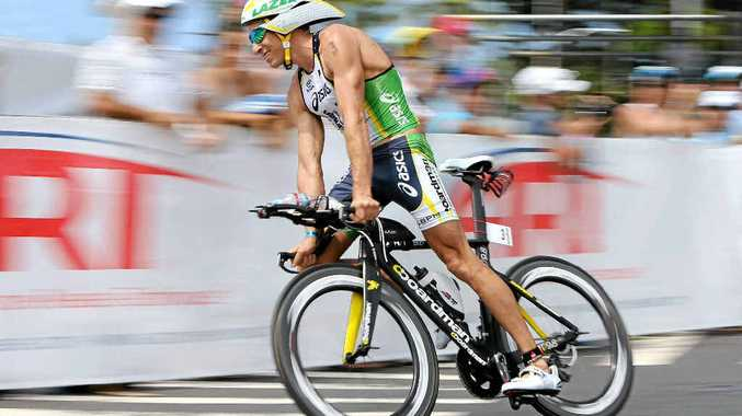 PACE WILL BE ON: After winning the Hawaii Ironman two weeks ago, Pete Jacobs admits he may struggle in the shorter format of next weekend's Noosa Triathlon.