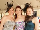 Sera Ball, Camilla Meyers and Jacinta Cook from Hervey Bay looking stylish at a recent race day at Torbanlea.